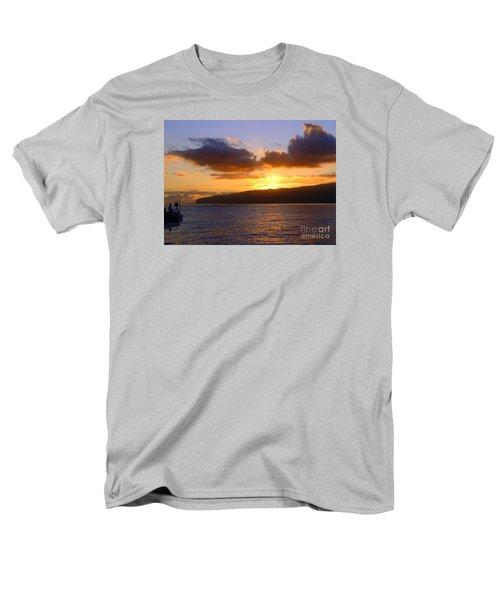 Sunset Over Reunion Island Men's T-Shirt  (Regular Fit) by John Potts