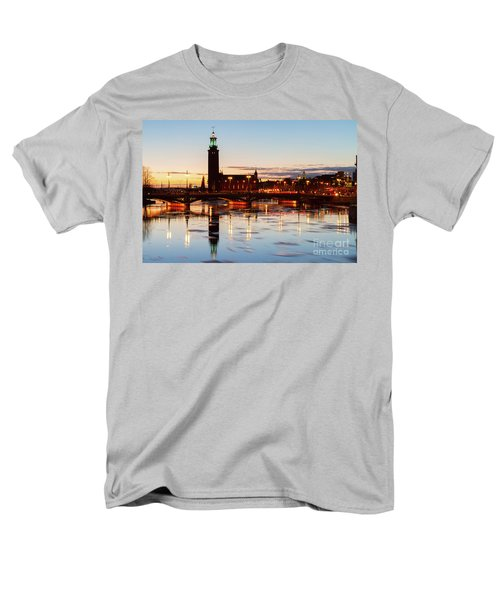 Sunset With Cityhall Of Stockholm Men's T-Shirt  (Regular Fit) by Anastasy Yarmolovich