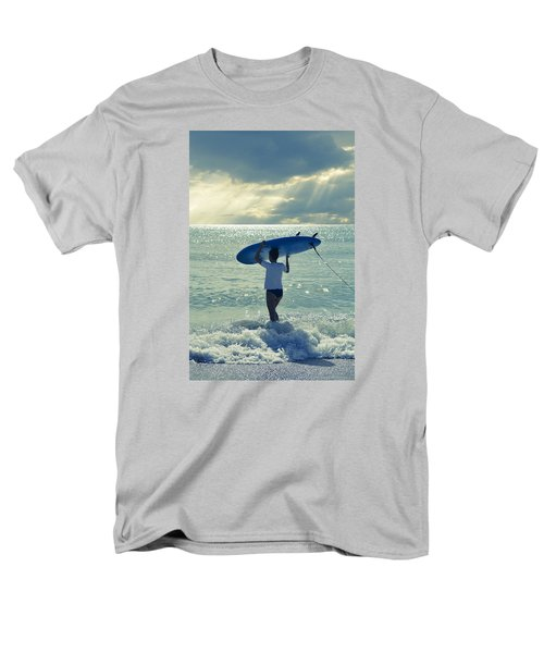Surfer Girl Men's T-Shirt  (Regular Fit) by Laura Fasulo