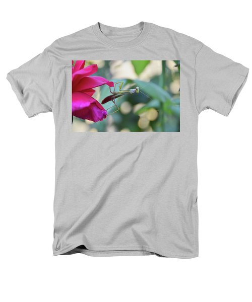 Men's T-Shirt  (Regular Fit) featuring the photograph Surprise At The Rose by Debby Pueschel