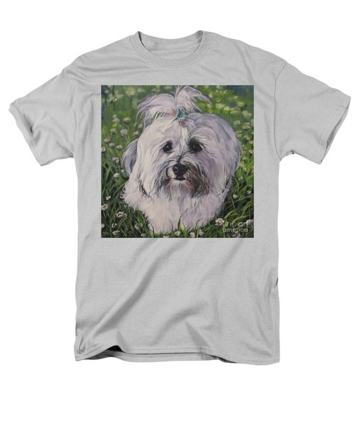 Men's T-Shirt  (Regular Fit) featuring the painting Sweet Havanese Dog by Lee Ann Shepard