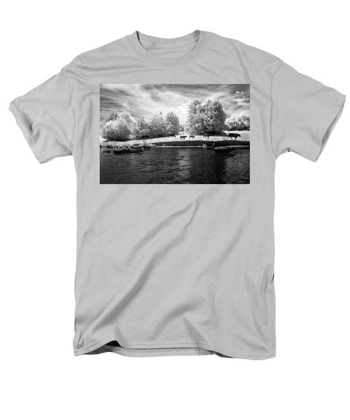 Swimming With Cows Men's T-Shirt  (Regular Fit) by Paul Seymour