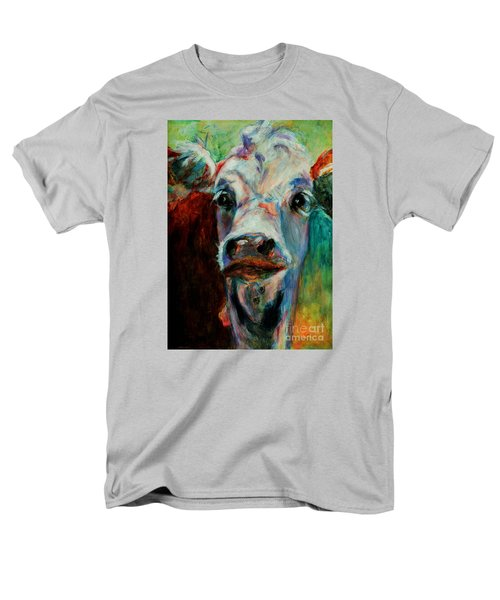 Men's T-Shirt  (Regular Fit) featuring the painting Swiss Cow - 1 by David  Van Hulst