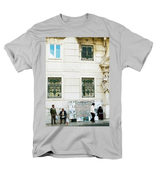 Men's T-Shirt  (Regular Fit) featuring the photograph Taking It To The Streets by Lorraine Devon Wilke