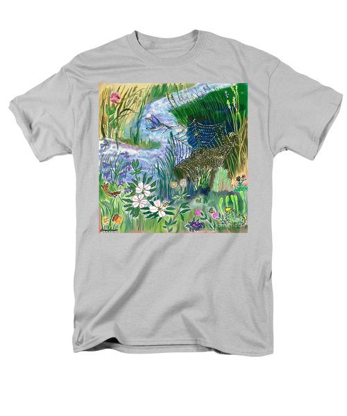 Teen Drawing -- Hummingbird Collecting Silk Men's T-Shirt  (Regular Fit) by Dawn Senior-Trask