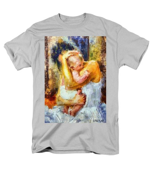 Men's T-Shirt  (Regular Fit) featuring the painting Tender Moment by Dragica  Micki Fortuna
