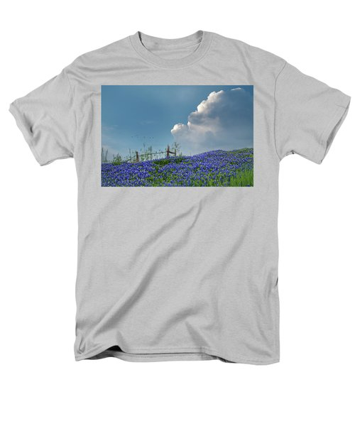 Men's T-Shirt  (Regular Fit) featuring the photograph Texas Bluebonnets And Spring Showers by David and Carol Kelly
