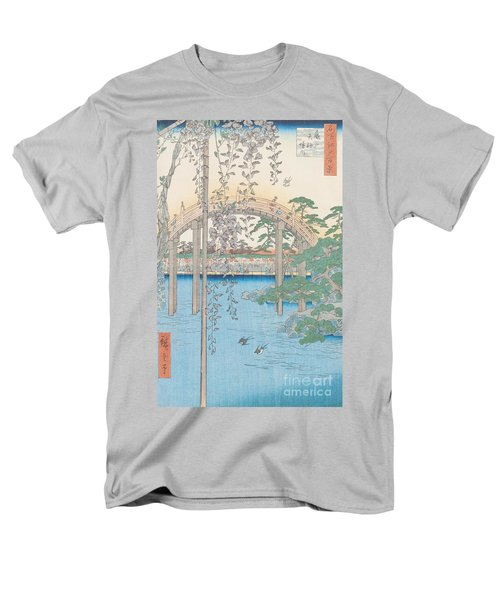 The Bridge With Wisteria Men's T-Shirt  (Regular Fit) by Hiroshige