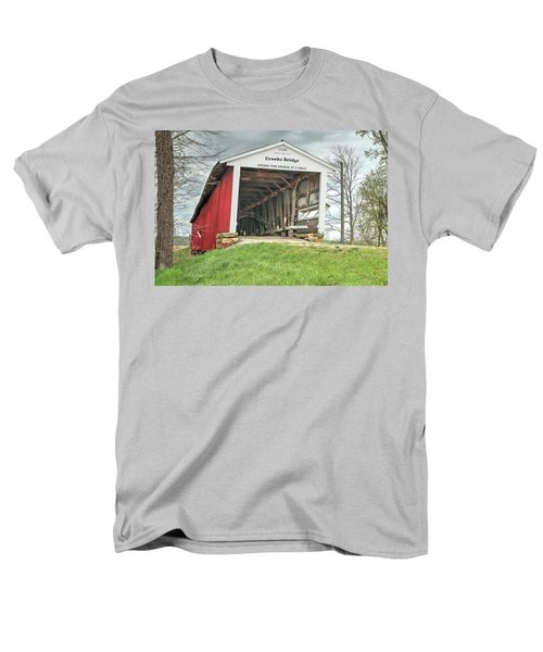 Men's T-Shirt  (Regular Fit) featuring the photograph The Crooks Covered Bridge by Harold Rau