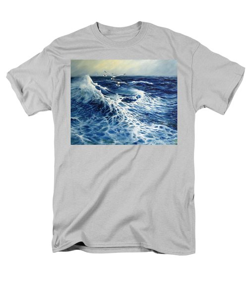 The Deep Blue Sea Men's T-Shirt  (Regular Fit) by Eileen Patten Oliver