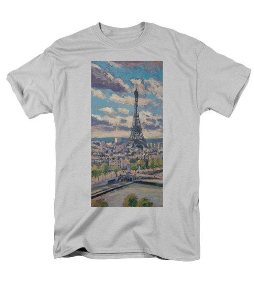 The Eiffel Tower Paris Men's T-Shirt  (Regular Fit)