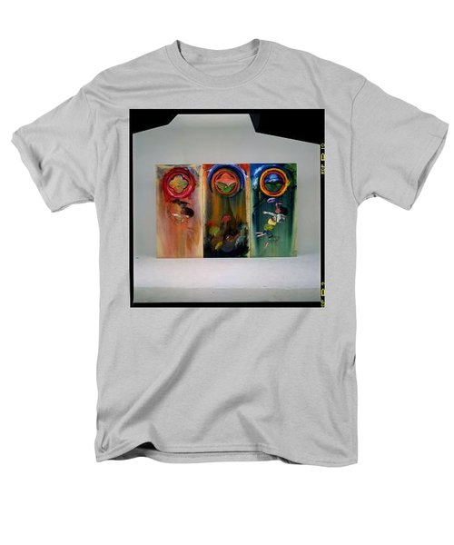 Men's T-Shirt  (Regular Fit) featuring the painting The Fruit Machine Stops by Charles Stuart