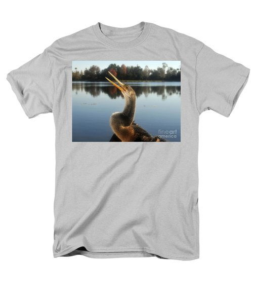 The Great Golden Crested Anhinga Men's T-Shirt  (Regular Fit) by David Lee Thompson