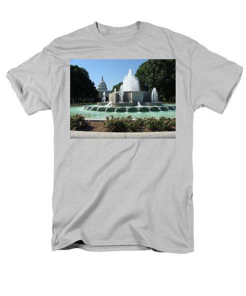 Men's T-Shirt  (Regular Fit) featuring the painting The House Of Democracy by Rod Jellison