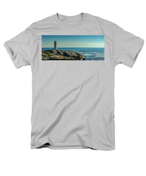 The Iconic Lighthouse At Peggys Cove Men's T-Shirt  (Regular Fit) by Ken Morris