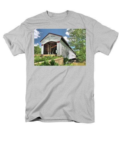 Men's T-Shirt  (Regular Fit) featuring the photograph The Jackson Covered Bridge by Harold Rau