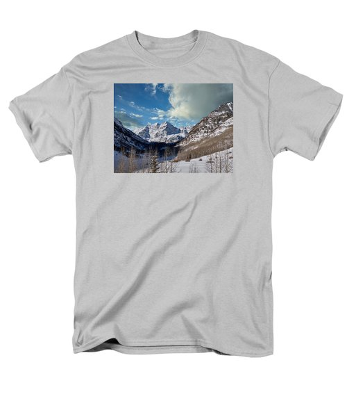 The Maroon Bells Twin Peaks Just Outside Aspen Men's T-Shirt  (Regular Fit) by Carol M Highsmith