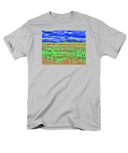 Men's T-Shirt  (Regular Fit) featuring the photograph The Marshlands by B Wayne Mullins