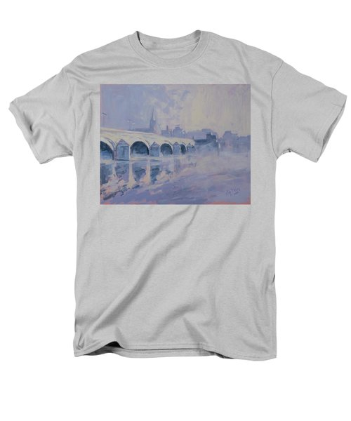 The Old Bridge Of Maastricht In Morning Fog Men's T-Shirt  (Regular Fit) by Nop Briex