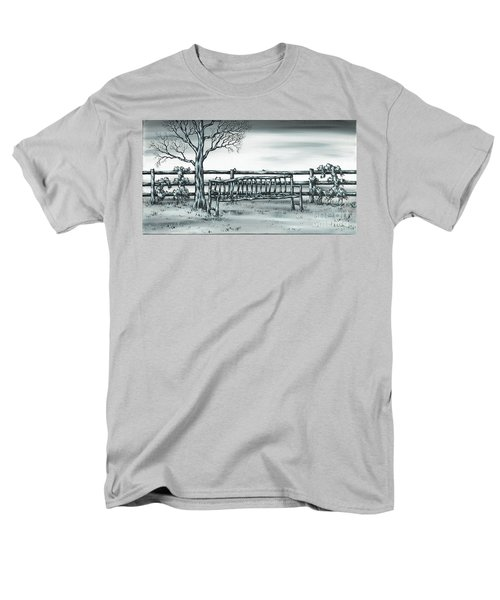 Men's T-Shirt  (Regular Fit) featuring the painting The Rematch by Kenneth Clarke