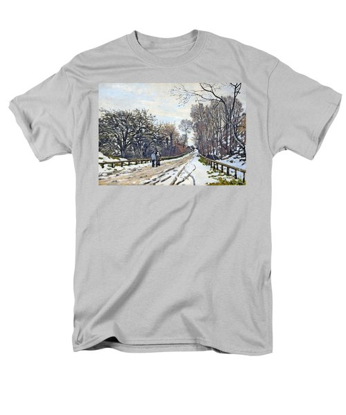 The Road To The Farm Of St. Simeon Men's T-Shirt  (Regular Fit) by Monet