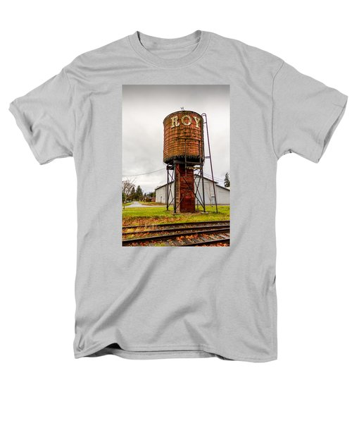 Men's T-Shirt  (Regular Fit) featuring the photograph The Roy Water Tower by Rob Green