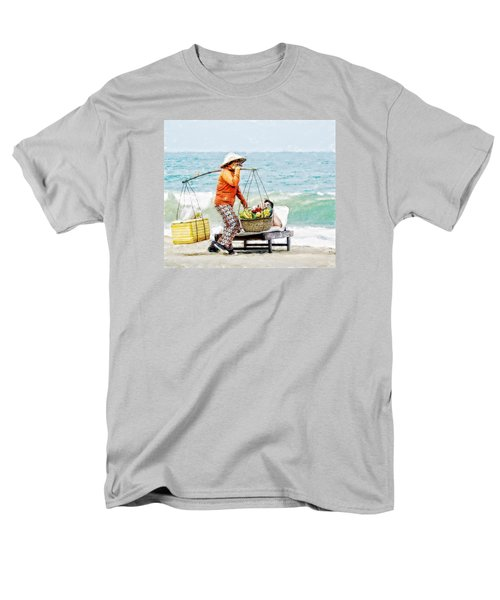 Men's T-Shirt  (Regular Fit) featuring the digital art The Smiling Vendor by Cameron Wood