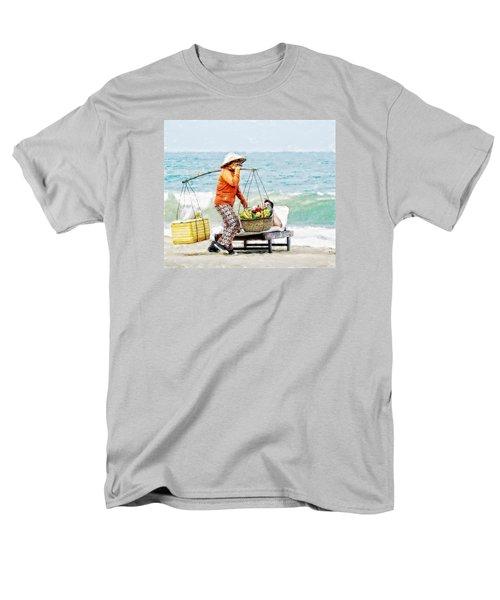 The Smiling Vendor Men's T-Shirt  (Regular Fit) by Cameron Wood
