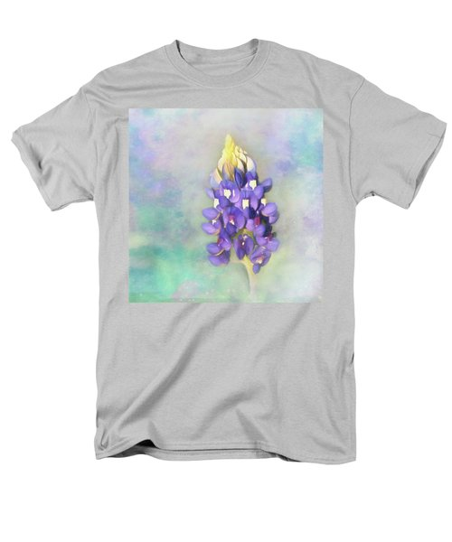 Men's T-Shirt  (Regular Fit) featuring the photograph The Texas State Flower The Bluebonnet by David and Carol Kelly