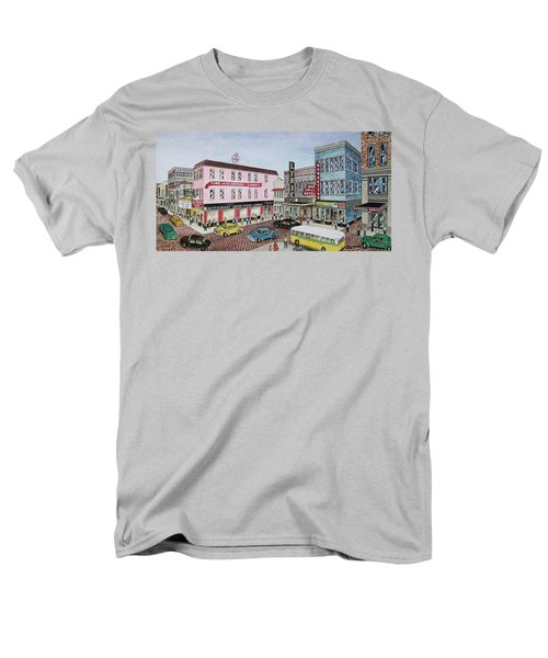 The Theater District Portsmouth Ohio 1948 Men's T-Shirt  (Regular Fit) by Frank Hunter