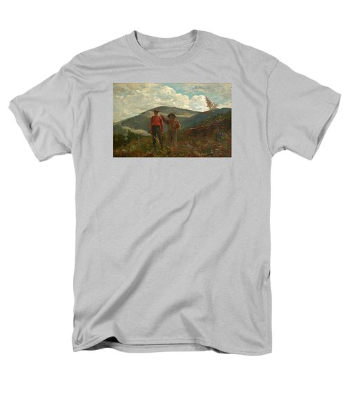 Men's T-Shirt  (Regular Fit) featuring the painting The Two Guides by Winslow Homer