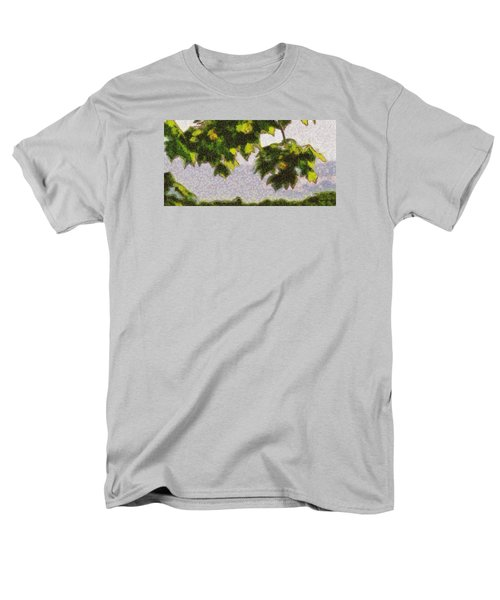 The Vibrating Sky Beyond Men's T-Shirt  (Regular Fit) by Spyder Webb