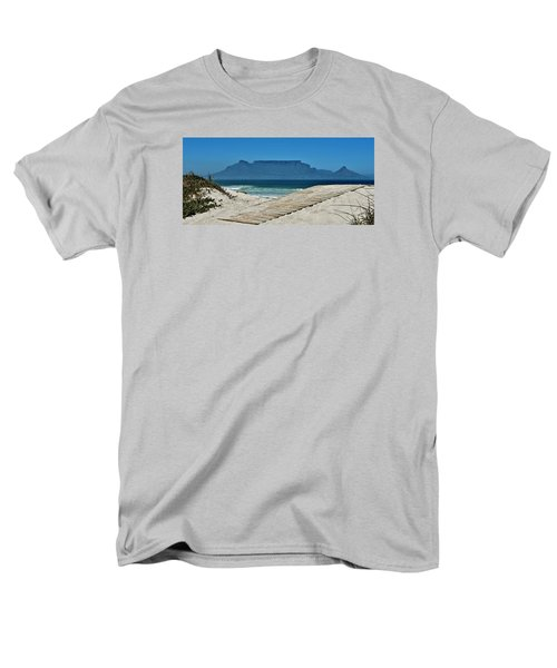 Men's T-Shirt  (Regular Fit) featuring the photograph The View At Table Mountain by Werner Lehmann