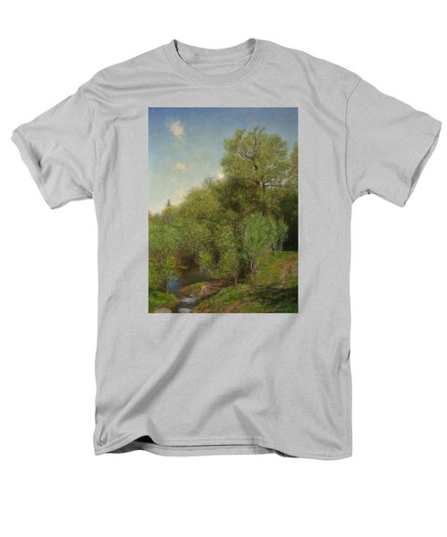 Men's T-Shirt  (Regular Fit) featuring the painting The Willow Patch by Wayne Daniels