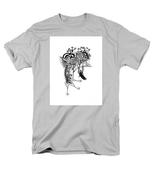 Men's T-Shirt  (Regular Fit) featuring the drawing The Swing Pen And Ink Drawing Illustration by Saribelle Rodriguez
