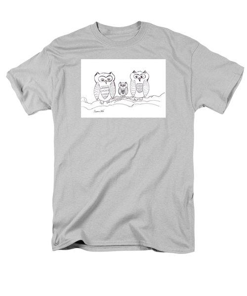 Three Little Owls Men's T-Shirt  (Regular Fit) by Ramona Matei
