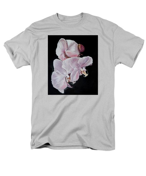 Men's T-Shirt  (Regular Fit) featuring the painting Three Orchids by Sandra Nardone