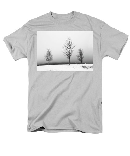 Three Trees In Winter Men's T-Shirt  (Regular Fit) by Brooke T Ryan