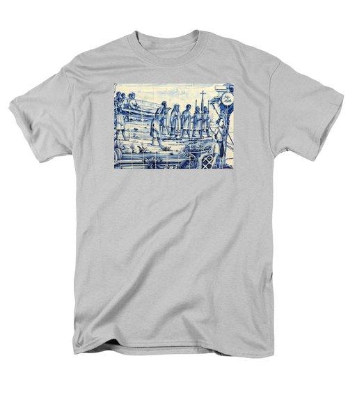 Tile Art Angola Men's T-Shirt  (Regular Fit) by John Potts