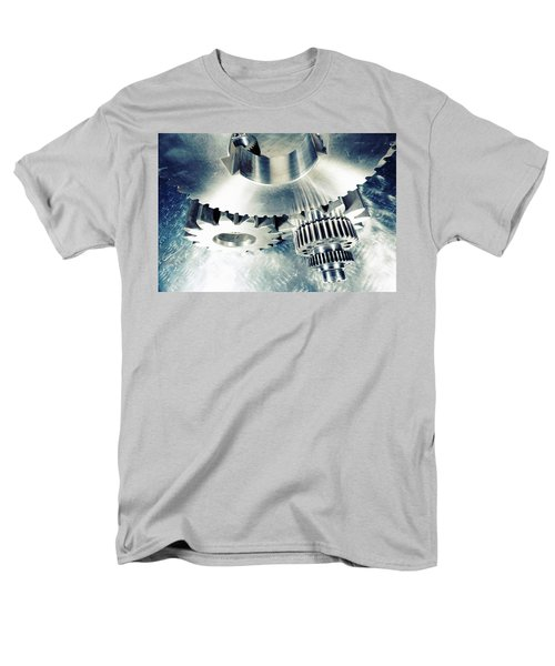Titanium Aerospace Cogs And Gears Men's T-Shirt  (Regular Fit) by Christian Lagereek