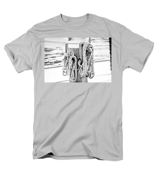Men's T-Shirt  (Regular Fit) featuring the photograph To Sail Or Knot by Greg Fortier