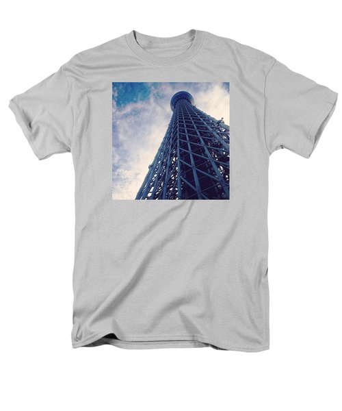 Skytree Tower From The Bottom, Tokyo, Japan Men's T-Shirt  (Regular Fit) by Yoshiaki Tanaka