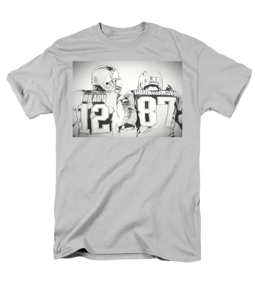 Men's T-Shirt  (Regular Fit) featuring the drawing Tom Brady Rob Gronkowski Sketch by Dan Sproul