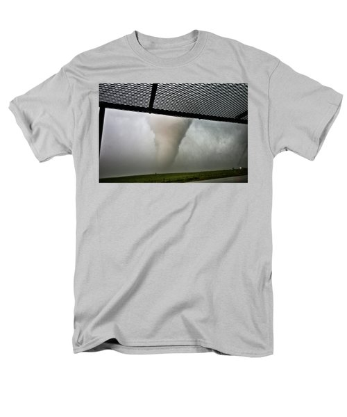 Men's T-Shirt  (Regular Fit) featuring the photograph Tornado Near Yorkton Sk. by Ryan Crouse