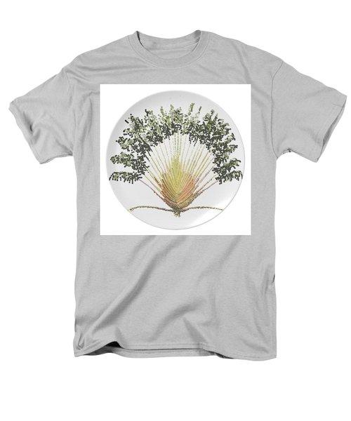 Men's T-Shirt  (Regular Fit) featuring the digital art Travelers Palm Plate by R  Allen Swezey