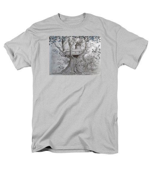 Men's T-Shirt  (Regular Fit) featuring the drawing Tree House #2 by Jim Hubbard