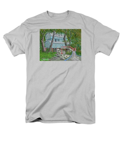 Men's T-Shirt  (Regular Fit) featuring the drawing Tree House Digital Version by Jim Hubbard