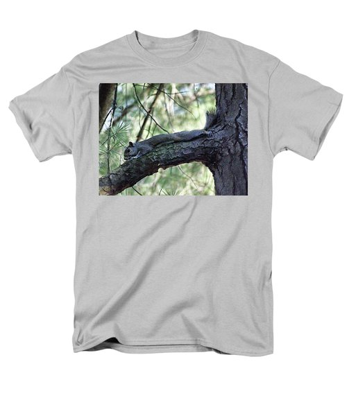 Men's T-Shirt  (Regular Fit) featuring the photograph  Tree Squirrel by B Wayne Mullins
