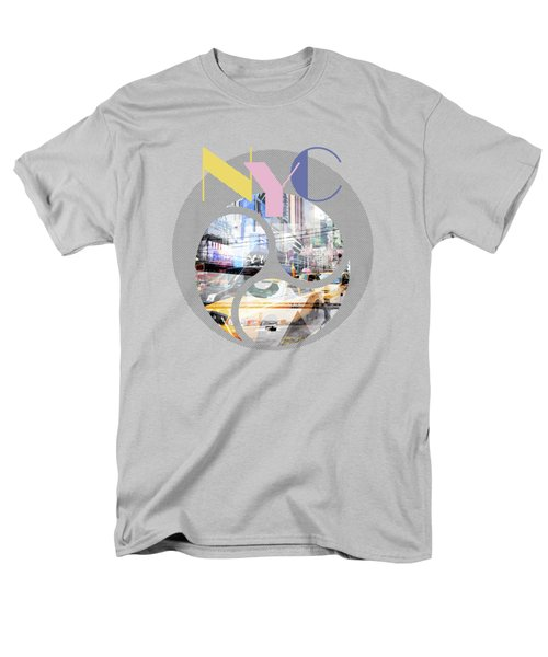 Trendy Design New York City Geometric Mix No 1 Men's T-Shirt  (Regular Fit) by Melanie Viola