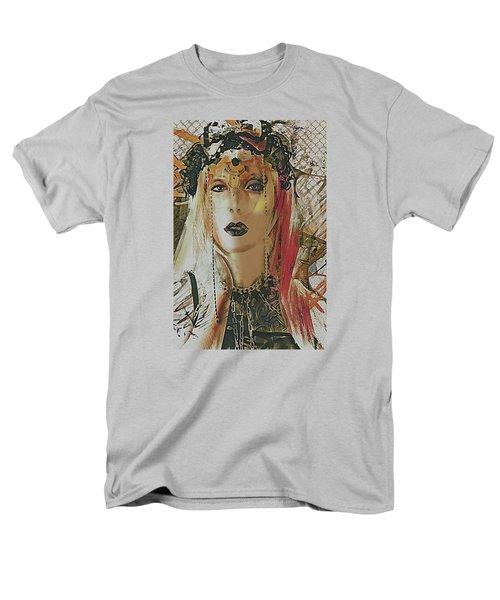 Men's T-Shirt  (Regular Fit) featuring the digital art Tribal Rust Portrait by Galen Valle